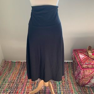 Old Navy Stretchy Back Midi A-line Skirt